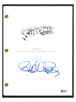 """Richard Donner Signed """"Superman: The Movie"""" Movie Script (Beckett COA) at PristineAuction.com"""