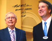 "Mitch McConnell Signed 8x10 Photo Inscribed ""Majority Leader USS"" & ""2018"" (PSA COA) at PristineAuction.com"