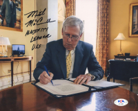 """Mitch McConnell Signed 8x10 Photo Inscribed """"Majority Leader USS"""" (PSA COA) at PristineAuction.com"""