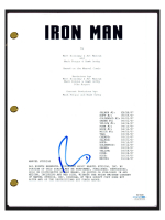 "Robert Downey Jr. Signed ""Iron Man"" Movie Script (AutographCOA COA) at PristineAuction.com"