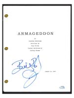 "Billy Bob Thornton Signed ""Armageddon"" Movie Script (AutographCOA COA) at PristineAuction.com"