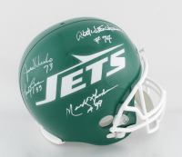Jets Full-Size Helmet Team-Signed by (4) with Joe Klecko, Marty Lyons, Mark Gastineau & Abdul Salaam (JSA COA) at PristineAuction.com