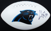 Christian McCaffery Signed Panthers Logo Football (Beckett COA) at PristineAuction.com