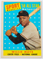 Willie Mays 1958 Topps #486 All-Star at PristineAuction.com