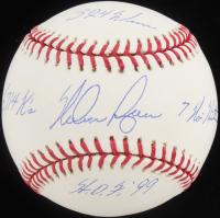 Nolan Ryan Signed OML Baseball with (4) Career Stat Inscriptions (PSA COA) at PristineAuction.com