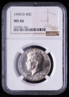1990-D Kennedy Half Dollar (NGC MS66) at PristineAuction.com