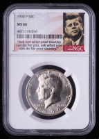 1990-P Kennedy Half Dollar (NGC MS66) at PristineAuction.com