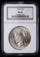 1922 Peace Silver Dollar (NGC MS62) at PristineAuction.com