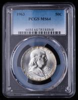 1963 Franklin Silver Half Dollar (PCGS MS64) at PristineAuction.com
