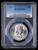 1963 Franklin Silver Half Dollar (PCGS MS64) at PristineAuction.com