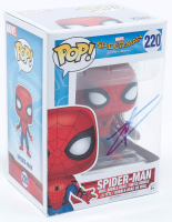 "Tom Holland Signed ""Spider-Man: Homecoming"" #220 Funko Pop! Vinyl Figure (JSA COA) at PristineAuction.com"