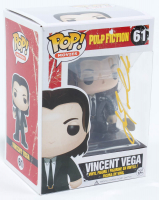 "John Travolta Signed ""Pulp Fiction"" #61 Vincent Vega Funko Pop! Vinyl Figure (AutographCOA COA) at PristineAuction.com"