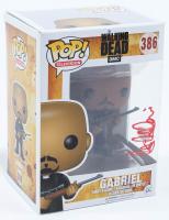 "Seth Gilliam Signed ""The Walking Dead"" Gabriel #386 Funko Pop! Vinyl Figure (PSA Hologram) at PristineAuction.com"