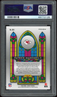 Patrick Mahomes II 2020 Panini Mosaic Stained Glass #1 (PSA 9) at PristineAuction.com