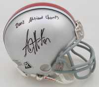 "A. J. Hawk Signed Ohio State Buckeyes Mini Helmet Inscribed ""2002 National Champs"" (JSA COA) at PristineAuction.com"