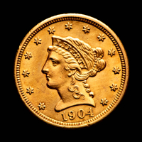 1904 $2.50 Liberty Head Quarter Eagle Gold Coin at PristineAuction.com