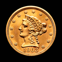 1903 $2.50 Liberty Head Quarter Eagle Gold Coin at PristineAuction.com