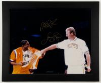 Magic Johnson & Larry Bird Signed 19x23 Custom Framed Photo Display (Bird Hologram & JSA ALOA) at PristineAuction.com