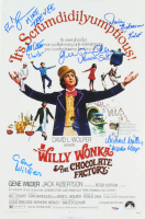 Willy Wonka & The Chocolate Factory 11x17 Photo Cast-Signed by (6) with Gene Wilder, Denise Nickerson, Julie Dawn Cole, Peter Ostrum, Paris Themmen & Michael Bollner with (5) Character Inscriptions (JSA LOA & PSA Hologram)) at PristineAuction.com
