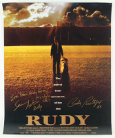 """Sean Astin & Rudy Ruettiger Signed """"Rudy"""" 16x20 Photo Inscribed """"I've Been Ready For This My Whole Life!"""" (JSA COA) at PristineAuction.com"""