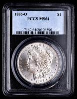 1885-O Morgan Silver Dollar (PCGS MS64) at PristineAuction.com