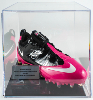 Russell Wilson Signed Nike Football Cleat with Display Case (PSA COA & Wilson Hologram) at PristineAuction.com