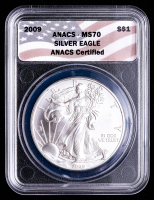 2009 American Silver Eagle $1 One Dollar Coin (MS70) at PristineAuction.com