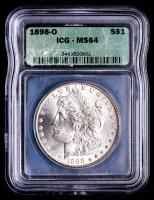 1898-O Morgan Silver Dollar (ICG MS64) at PristineAuction.com