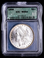 1898 Morgan Silver Dollar (ICG MS64) at PristineAuction.com