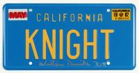 "William Daniels Signed California License Plate Inscribed ""KITT"" (JSA COA) at PristineAuction.com"