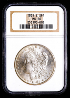 1881-S Morgan Silver Dollar (NGC MS66) at PristineAuction.com