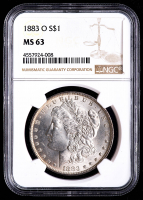 1883 Morgan Silver Dollar (NGC MS63) at PristineAuction.com