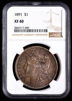 1891 Morgan Silver Dollar (NGC XF40) at PristineAuction.com