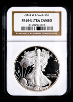2004-W American Silver Eagle $1 One Dollar Coin (NGC PF69 Ultra Cameo) at PristineAuction.com