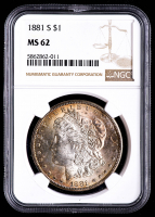 1881-S Morgan Silver Dollar (NGC MS62) (Toned) at PristineAuction.com