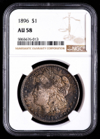 1896 Morgan Silver Dollar (NGC AU58) (Toned) at PristineAuction.com