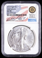 2018 American Silver Eagle $1 One Dollar Coin - Early Releases - Miles Standish (NGC MS70) at PristineAuction.com