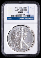 2012 American Silver Eagle $1 One-Dollar Coin - Early Releases (NGC MS70) at PristineAuction.com