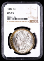 1889 Morgan Silver Dollar (PCGS MS63) at PristineAuction.com