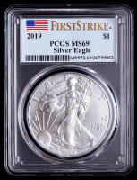 2019 American Silver Eagle $1 One Dollar Coin - First Strike (PCGS MS69) at PristineAuction.com