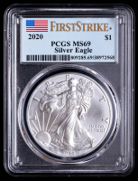 2020 American Silver Eagle $1 One Dollar Coin - First Strike (PCGS MS69) at PristineAuction.com