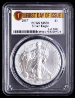 2017 American Silver Eagle $1 One Dollar Coin - First Day Of Issue (PCGS MS70) at PristineAuction.com