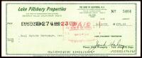 Jack Haley Signed 1970 Personal Bank Check (JSA COA) at PristineAuction.com