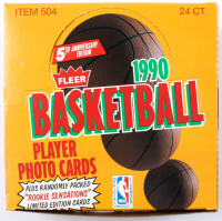 1990-91 Fleer Basketball Retail Box of (24) Packs at PristineAuction.com