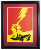 """The Flash"" 16x23 Custom Framed Photo Display at PristineAuction.com"