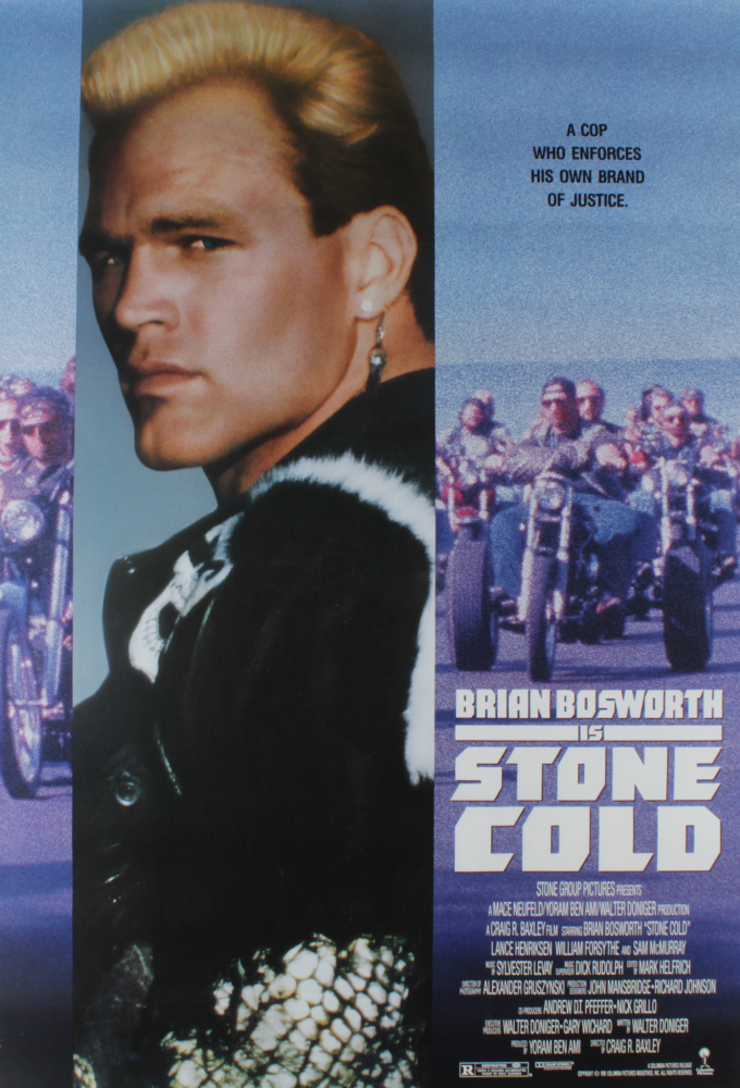 """""""Stone Cold"""" 27x40 Movie Poster at PristineAuction.com"""