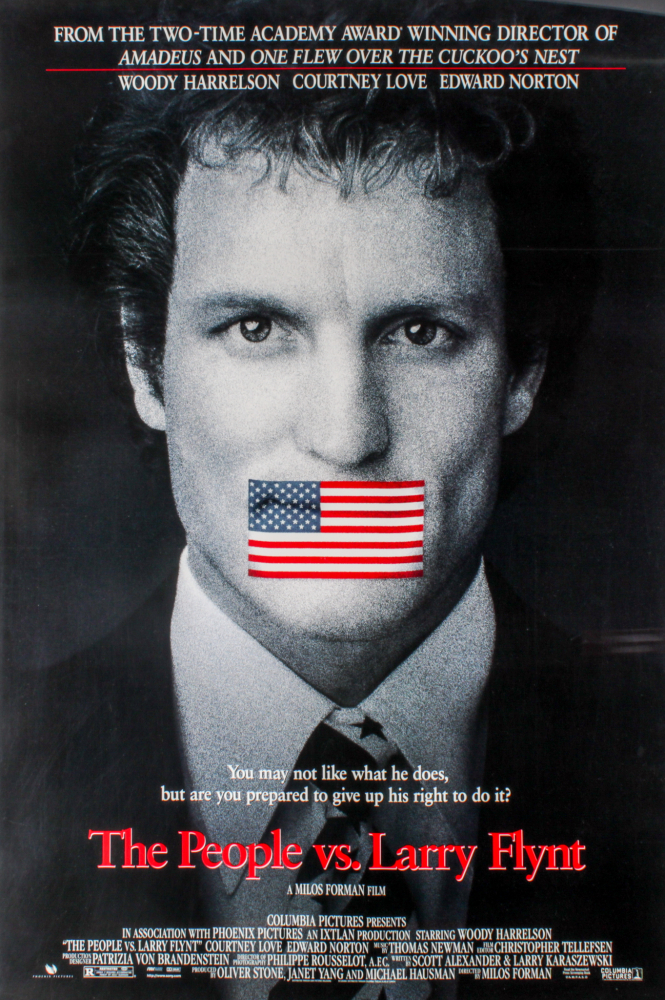 """""""The People Vs. Larry Flynt"""" 27x40 Movie Poster at PristineAuction.com"""