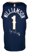 Zion Williamson Signed Pelicans Nike Jersey (Fanatcis Hologram) at PristineAuction.com