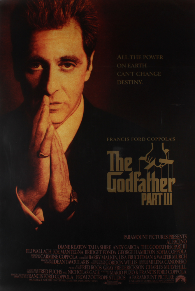 """""""The Godfather: Part III"""" 27x40 Movie Poster at PristineAuction.com"""