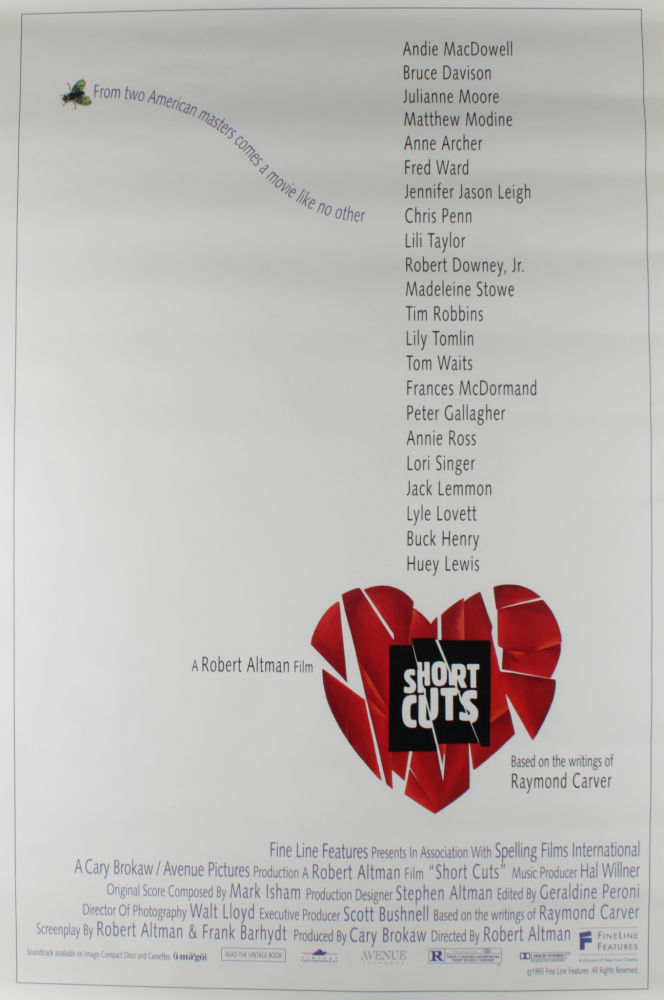 """""""Short Cuts"""" 27x40 Movie Poster at PristineAuction.com"""